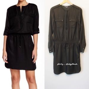 Vince Rolled Sleeve Cargo Dress  Size Small